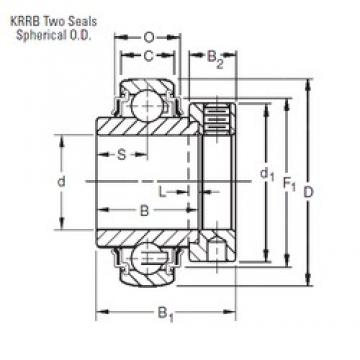 Timken 1207KRRB deep groove ball bearings