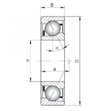 ISO 7414 B angular contact ball bearings