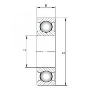 ISO 60/28 deep groove ball bearings