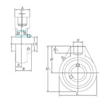 KOYO UCHA202-10 bearing units