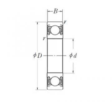 NSK B25-147DDU8 deep groove ball bearings
